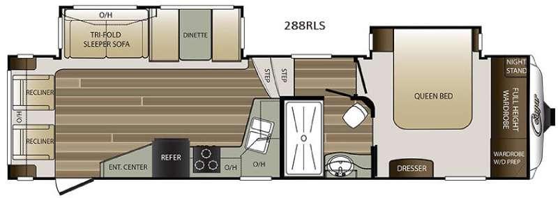 Floorplan - 2016 Keystone RV Cougar 288RLS