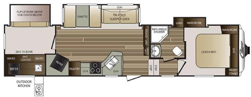 Cougar 330RBK Floorplan Image