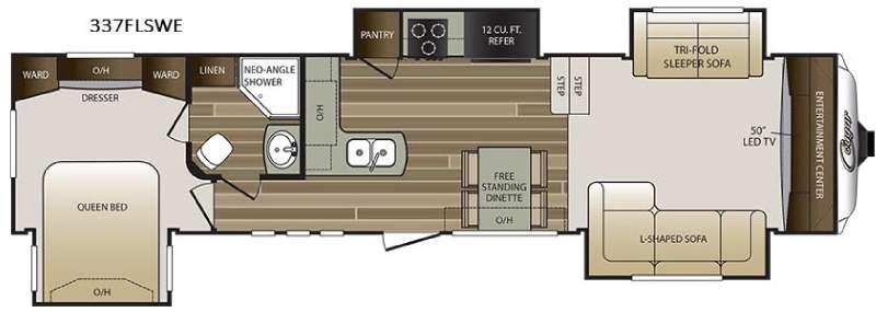 Floorplan - 2016 Keystone RV Cougar 337FLSWE