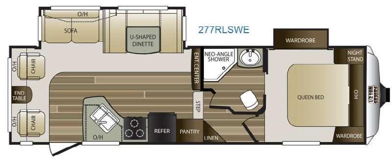 Floorplan - 2016 Keystone RV Cougar Half-Ton Series 277RLSWE