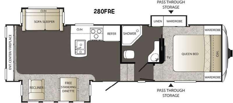 Floorplan - 2016 Keystone RV Outback 280FRE