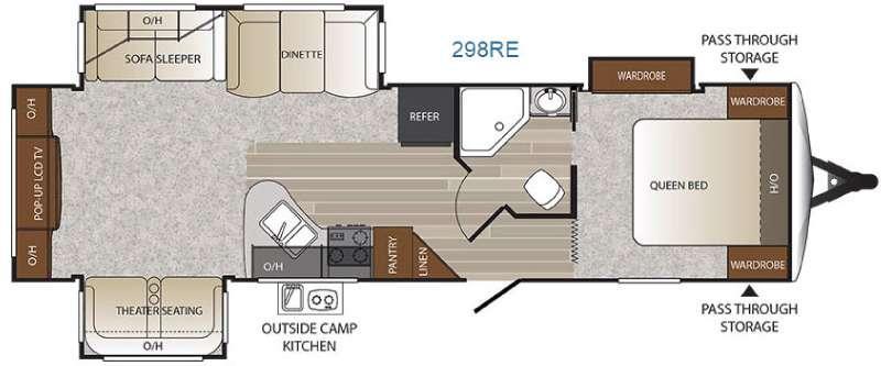 Floorplan - 2016 Keystone RV Outback 298RE