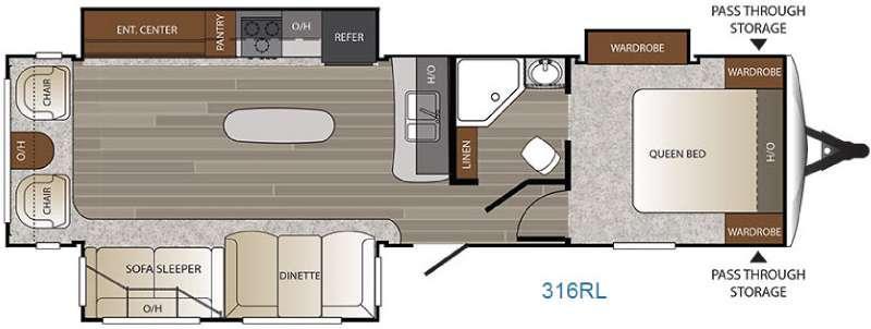Outback 316RL Floorplan Image