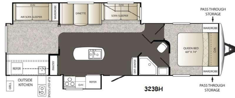 Outback 323BH Floorplan Image
