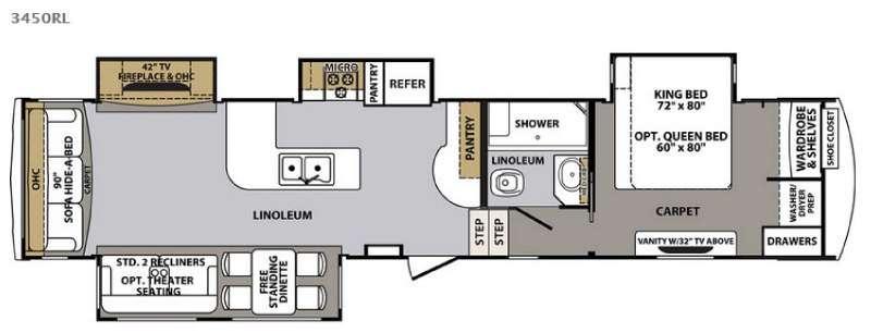 Cardinal 3450RL Floorplan Image