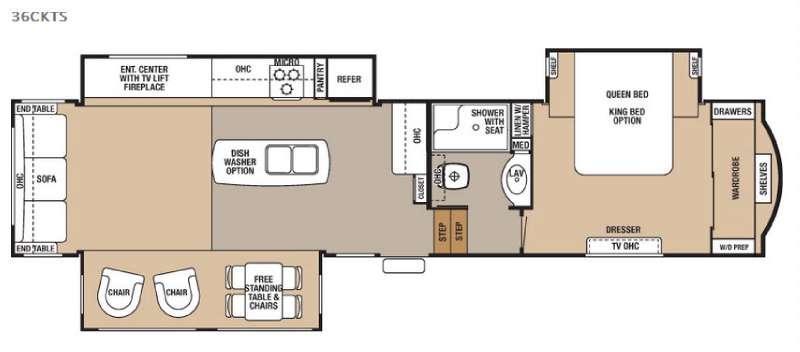 Cedar Creek 36CKTS Floorplan Image
