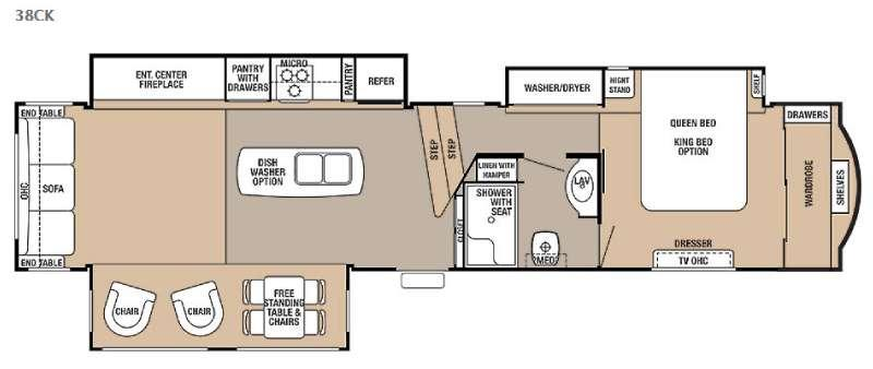 Floorplan - 2016 Forest River RV Cedar Creek 38CK