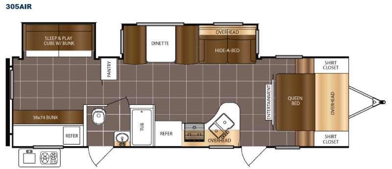 Floorplan - 2016 Prime Time RV Tracer Air 305AIR