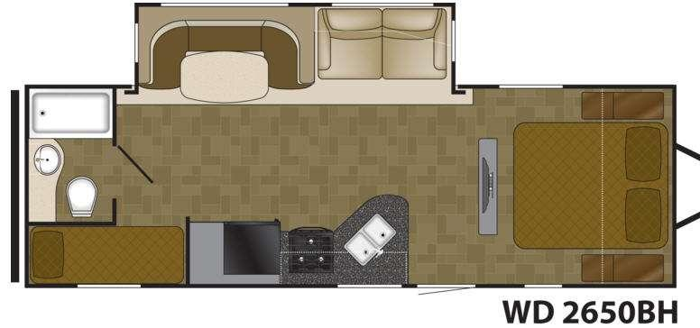 Floorplan - 2016 Wilderness 2650BH Travel Trailer