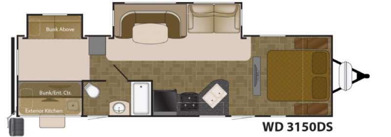 Floorplan - 2016 Heartland Wilderness 3150DS
