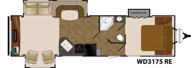 Floorplan - 2016 Heartland Wilderness 3175RE