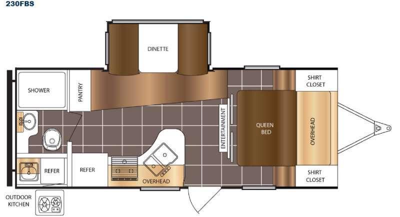 Floorplan - 2016 Prime Time RV Tracer 230FBS