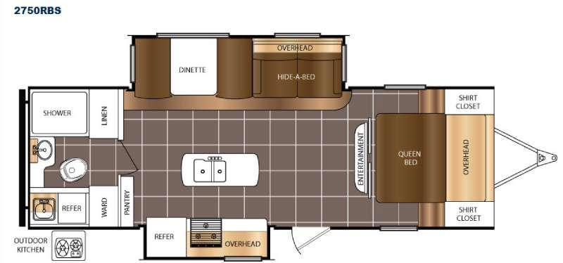 Floorplan - 2016 Prime Time RV Tracer 2750RBS