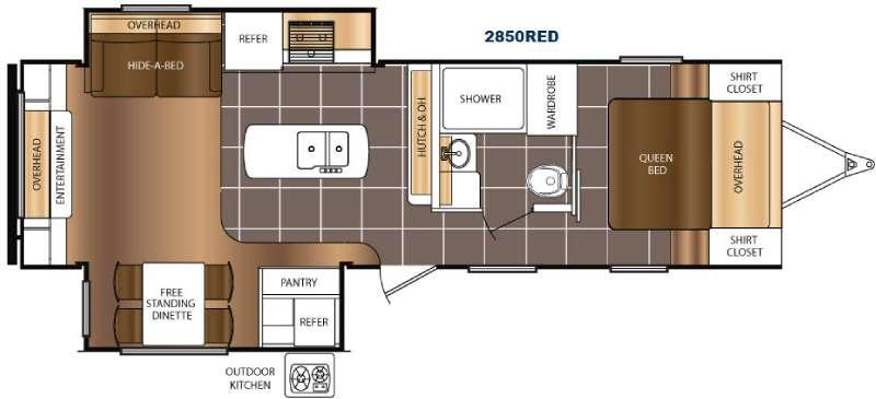 Floorplan - 2016 Prime Time RV Tracer 2850RED