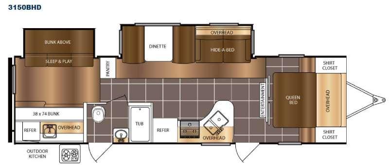 Tracer 3150BHD Floorplan Image