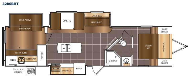 Floorplan - 2016 Prime Time RV Tracer 3200BHT