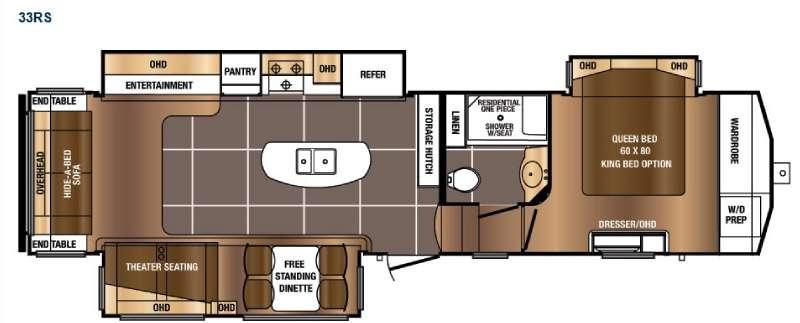 Sanibel Traveler 33RS Floorplan Image