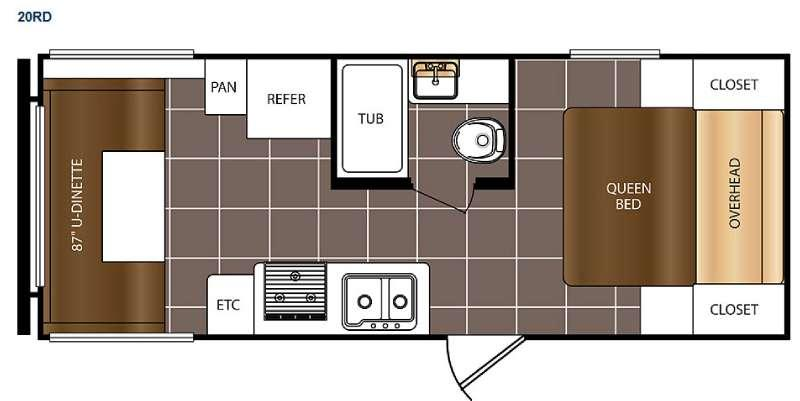 Floorplan - 2016 Prime Time RV Avenger ATI 20RD