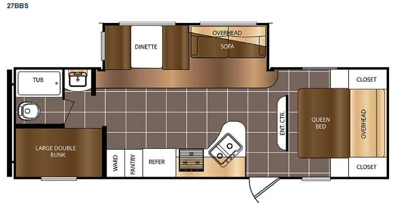 Floorplan - 2016 Prime Time RV Avenger ATI 27BBS