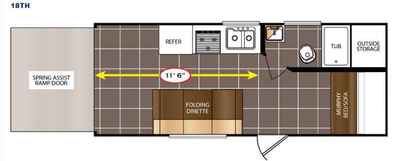 Floorplan - 2016 Prime Time RV Avenger 18TH