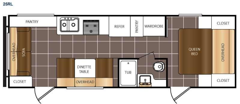 Floorplan - 2016 Prime Time RV Avenger 25RL