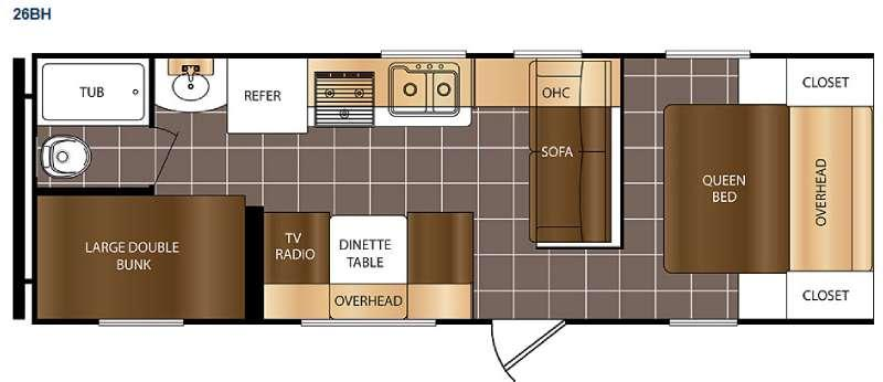 Floorplan - 2016 Prime Time RV Avenger 26BH