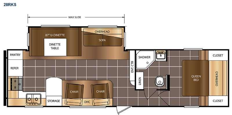 Floorplan - 2016 Prime Time RV Avenger 28RKS