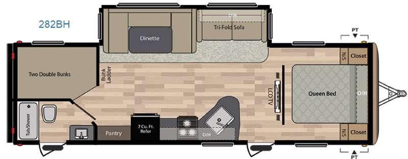 Springdale 282BH Floorplan Image