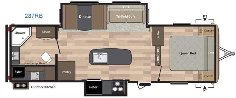 Floorplan - 2016 Keystone RV Springdale 287RB