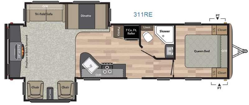 Floorplan - 2016 Keystone RV Springdale 311RE