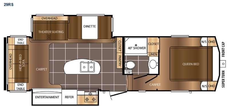 Floorplan - 2016 Prime Time RV Crusader LITE 29RS