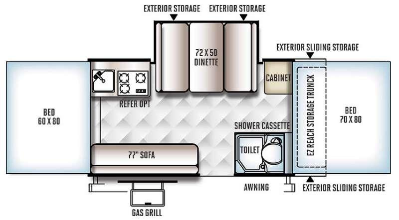 Floorplan - 2016 Forest River RV Flagstaff Classic 625D