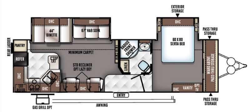 Floorplan - 2016 Forest River RV Flagstaff Classic Super Lite 831RKBSS