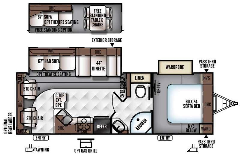 Floorplan - 2016 Flagstaff Super Lite 26RLWS Travel Trailer