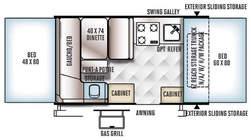 Floorplan - 2016 Forest River RV Rockwood Freedom Series 1910