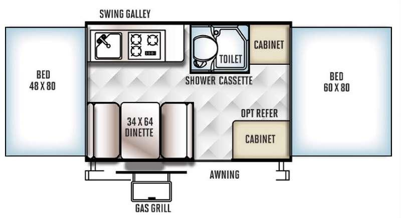 Floorplan - 2016 Forest River RV Rockwood Freedom Series 1950