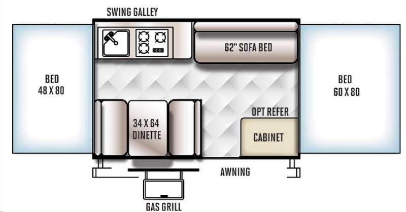 Floorplan - 2016 Forest River RV Rockwood Freedom Series 1970
