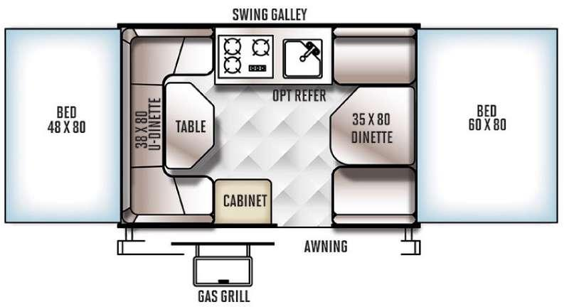 Floorplan - 2016 Forest River RV Rockwood Freedom Series 1980