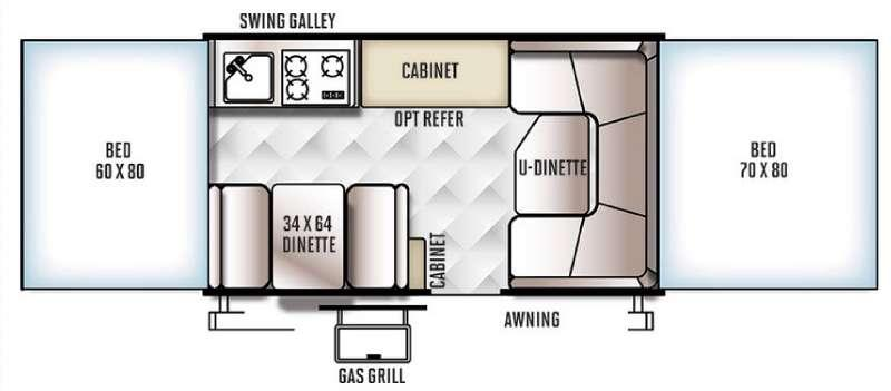 Floorplan - 2016 Forest River RV Rockwood Freedom Series 2270