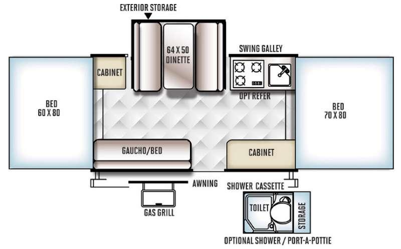 Floorplan - 2016 Forest River RV Rockwood Freedom Series 2318G