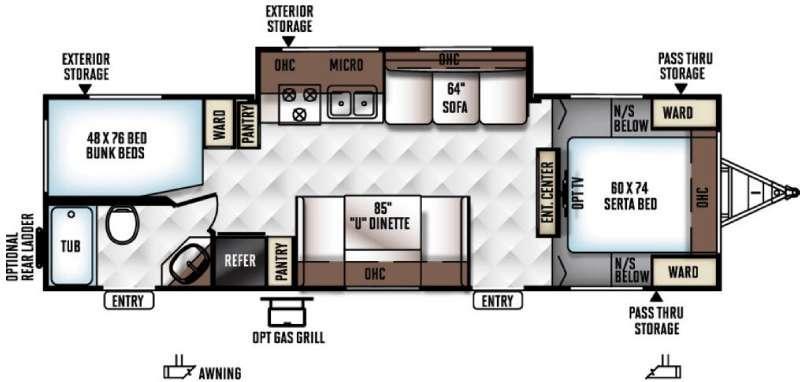 Floorplan - 2016 Forest River RV Rockwood Ultra Lite 2702SS