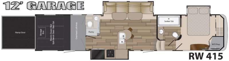 Floorplan - 2016 Heartland Road Warrior 415