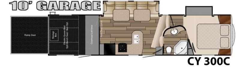 Floorplan - 2016 Heartland Cyclone 300C Titanium Edition