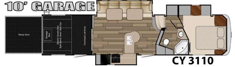 Floorplan - 2016 Heartland Cyclone 3110