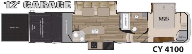Floorplan - 2016 Heartland Cyclone 4100 King