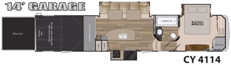Floorplan - 2016 Heartland Cyclone 4114