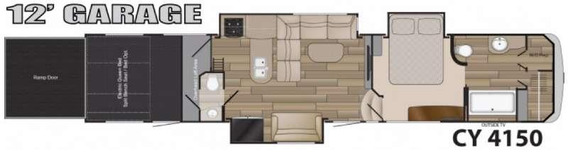 Floorplan - 2016 Heartland Cyclone 4150