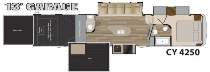 Floorplan - 2016 Heartland Cyclone 4250