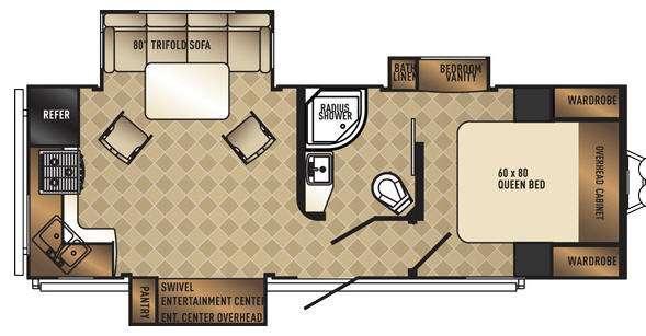 SolAire Ecplise 247RKES Floorplan Image
