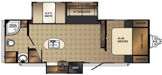 SolAire Ecplise 263RBDSK Floorplan Image